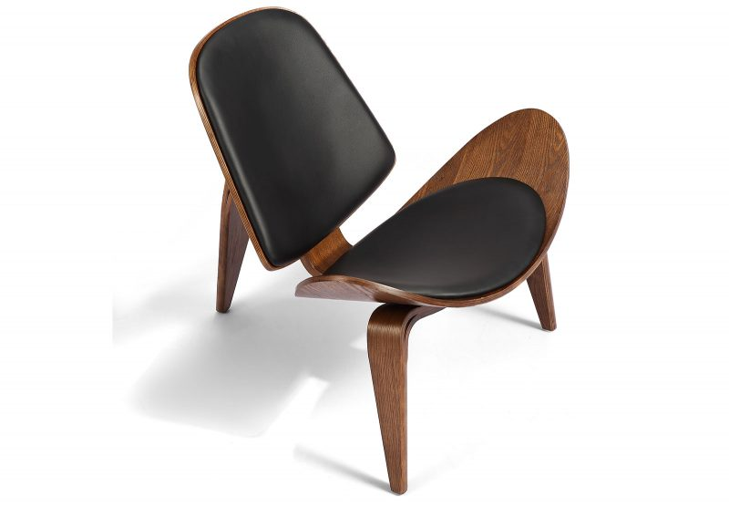 Silla OXFORD color nogal/negro