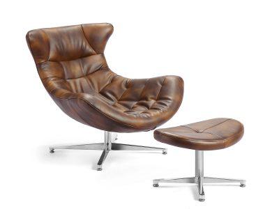 silla cocoon marron